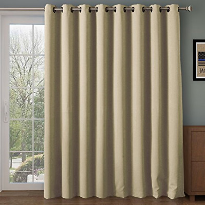 RHF Wide Thermal Blackout Patio Door Curtain Panel, Sliding Door Insulated Extra