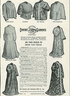 1906 Womens Dresses Early 20th Century Leicester Continental Mills Co Vintage Ad