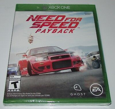 Need for Speed Payback for Xbox One Brand New! Factory Sealed!