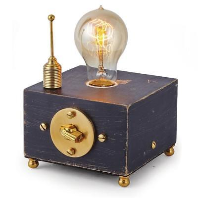 Electro Steampunk Solid Brass Lamp Single - Vintage Industrial