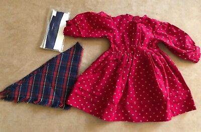 Pleasant Company Kirsten School dress with shawl American Girl outfit red PM
