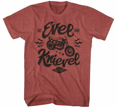 EVEL Men's One Evel Moto Tee Sm Red Heather EK5106S