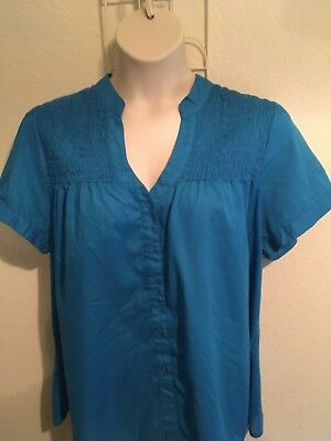 Lane Bryant Womens Plus Size 18/20 Blue Top