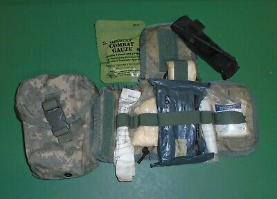 US Military Issue Army ACU Camouflage Improved IFAK First Aid Kit Medic Pouch