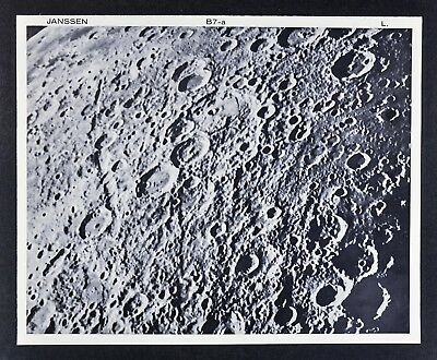 1960 Lunar Atlas Moon Map Photo Map - Janssen B7-a Lick Observatory - Craters