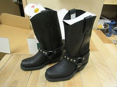 Cbc - Canada - Black Loggertan Square Toe  Motorcycle Boots - Ladies Size 9