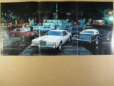 1976 Lincoln Continental Mark IV Pucci Givenchy Cartier Blass vintage print Ad