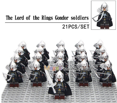 21PCS/LOT LORD OF the Rings Army Group For Custom Lego Minifigures