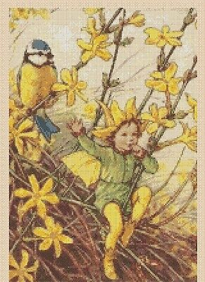 Flower Fairy  Cross stitch chart Winter Jasmine No. 428  FlowerPower37-uk