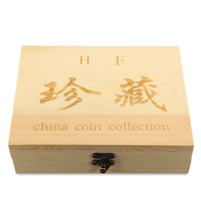 50/100x Wooden Coin Display Storage Box Collectible Case Round Certified Capsule