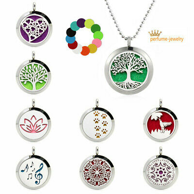 316L Stainless Steel scent Diffuser Pendant Aromatherapy Essential Oil Necklace