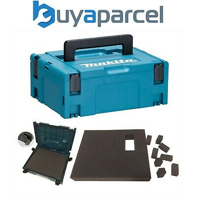 Makita MAKPAC Stacking Connector Tool Case Systainer TYPE 2 + Foam Insert