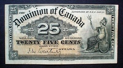 THE DOMINION OF CANADA ~ 25 CENTS 1900 f.