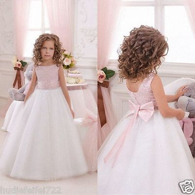 3be744d620a Flower Girl Dresses Wedding Bridesmaid Birthday Party Formal Recital Gown