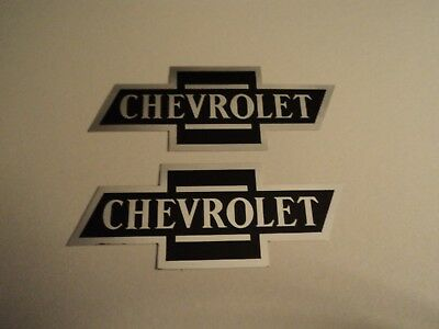 LOT OF 2 NOS Vintage Chevrolet Chevy Bowtie Racing Decals Stickers Hot Rod  Parts