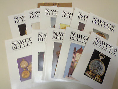 National Watch & Clock Collectors Bulletins 1995-1996 (11 Issues) NAWCC Horology