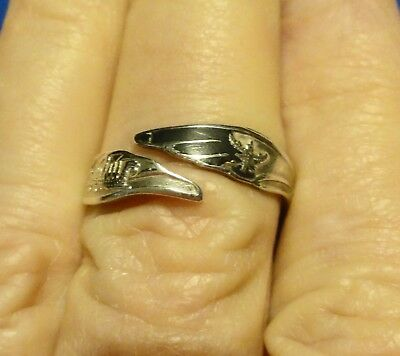 Vintage Adjustable Sterling Silver Ring - Siam with Oriental Design