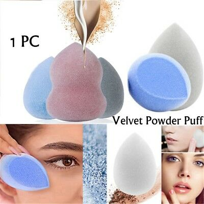 Makeup Velvet Powder Puff Microfiber Fluff Surface Foundation Flocking Sponge