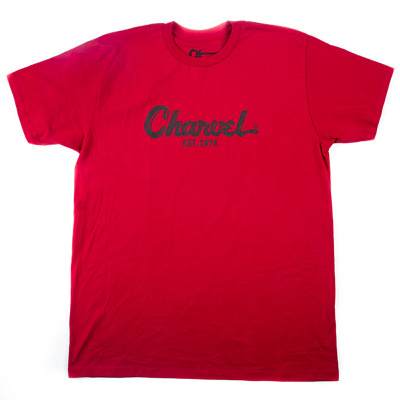 Charvel Guitares Dentifrice T-Shirt Logo T-Shirt en Rouge - Medium - #0998727604