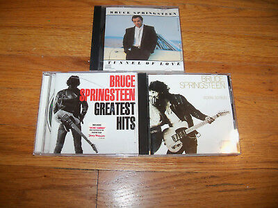 Bruce Springsteen CD LOT  GREATEST HITS / BORN TO RUN / TUNNEL OF LOVE