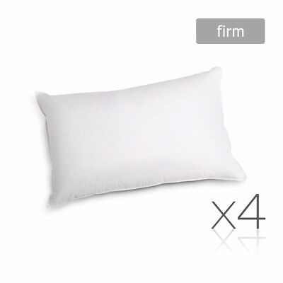 Family 4 Pack Bed Pillows Firm Cotton Cover 48X73CM Brand New @AU