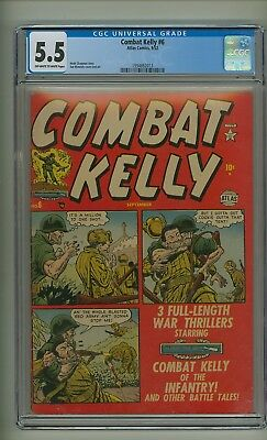 Combat Kelly #6 (CGC 5.5) OW/W pages; Atlas; 1952; Only graded copy! (c#21826)