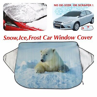 Car Windscreen Cover Ice Snow Frost Winter Thermal Magnetic Window Cover UK