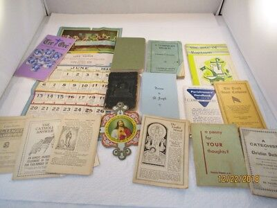 Vintage Lot of Religious Books, Booklets and Papers