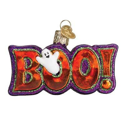 Boo Ghost Old World Halloween Glass Blown Christmas Tree Ornament NWT 26077