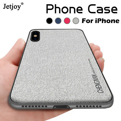 Luxury Magnetic Fabric Cloth Leather Case For iPhone XS 7 8 Soft Silicone Cover