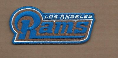 New 1 7/8 X 4 Inch Los Angeles Rams Iron On Patch Free Shipping