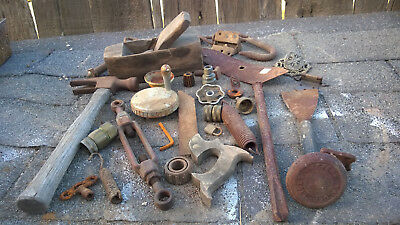 Vtg Lot Rusty Primitive Iron Metal Farm Tools Rustic Barn Wedding Industrial #5