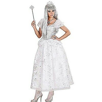 Ice Queen Costume Large For Medieval Royalty Middle Ages Fancy Dress