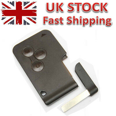 Renault Clio Megane Scenic Grand Scenic 3 Button Key Card Shell Case GB Stock
