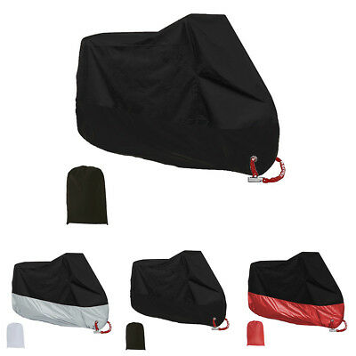 Black XL Motorcycle Waterproof Rain Cover Motor Bike Scooter Dust UV Protector