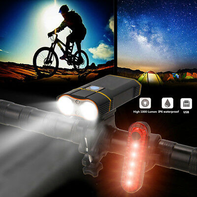 Super Bright 20000LM 2x XML L2 LED Front Headlamp Bicycle Light Head Bike Lamp
