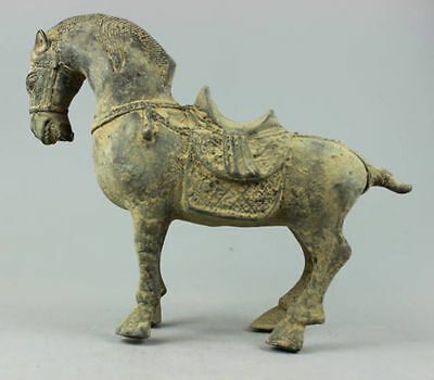 Vintage Decorated Old Handwork Bronze Carved Zodiac Horse Statue