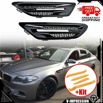 BMW F10 M5 Mist Black Side Front Fender Grille Trim Vent Cover Ship from USA