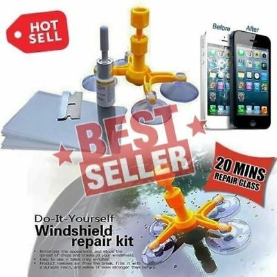 Cracked Glass Repair Kit Windshield Kits DIY Car Window Tools Glass Scratch New