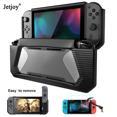 Hybrid Protective Case Rubberized TPU Hard Cover For Nintendo Switch +Protector