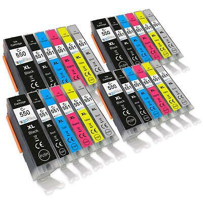 24 Printer Ink Cartridges (6 Set) for Canon PIXMA iP8700, iP8750, MG6340, MG6350