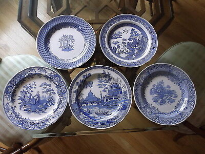 SPODE BLUE ROOM COLLECTION Plates SEASONS ROME WILLOW PORTLAND VASE GIRL AT WELL