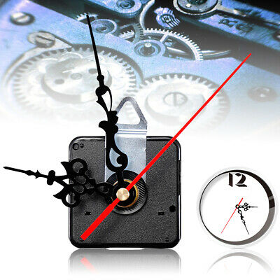 DIY Wall Quartz Silent Clock Movement Mechanism Black Red Hand Repair Tools Kit