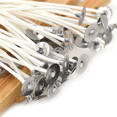 30pcs 4 Inch Candle Wicks Cotton Core Waxed With Sustainers For Candle Making AP