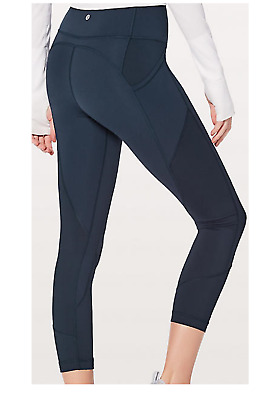 c1d9248707 LULULEMON ALL THE Right Places Crop II 23'' True Navy Size 6 $118 ...