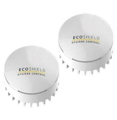 TWO ecoSHIELD Chemical Urinal Sleeve Cone Cap REFILLS Sanitiser x2 ecocap