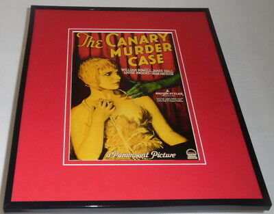Canary Murder Case Framed 11x14 Repro Poster Display William Powell James Hall