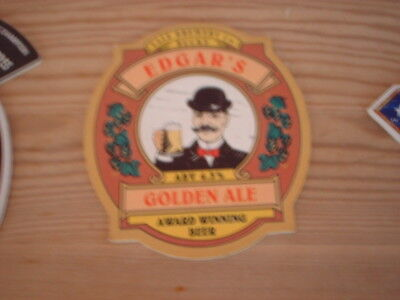 Beer pump clip badge / Advert ,  Vale Brewery Co, Edgars Golden Ale