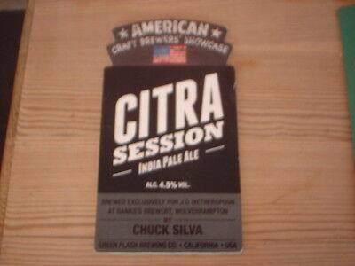 Beer pump clip badge / Advert ,Banks's Brewery, Wolverhampton,Citra session IPA