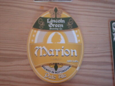 Beer pump clip badge / Advert , Lincoln Green Brewery Co, Marion